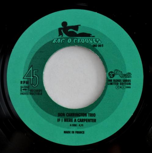 Don Carrington Trio - 1001 Est Cremazie Bright Moments /If I Were A Carpenter