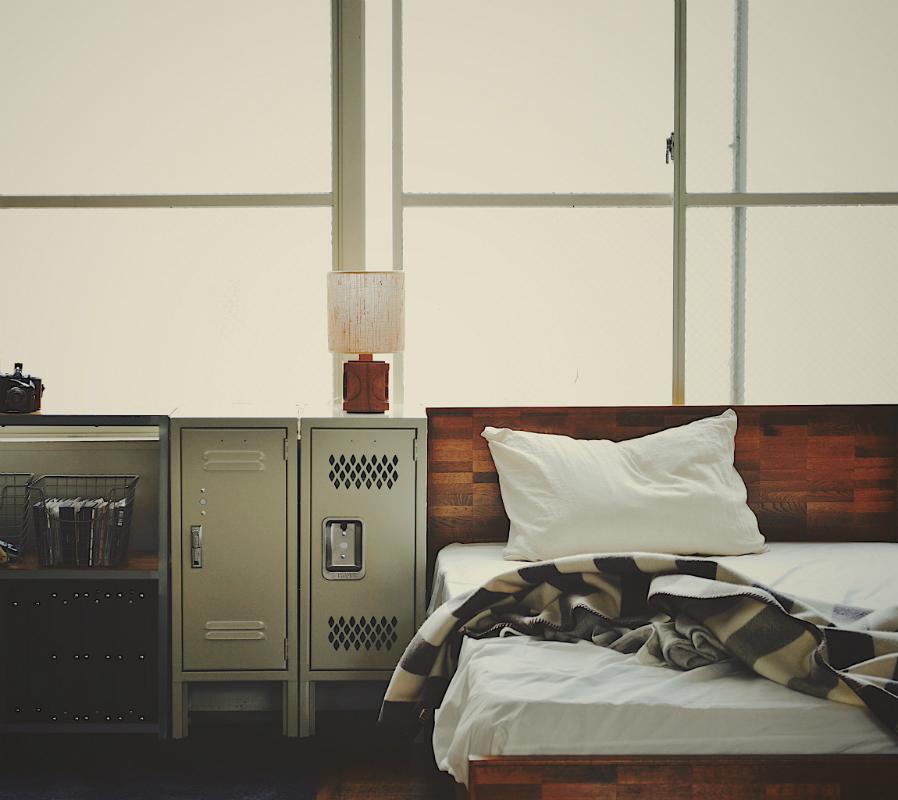 PARQUET BACK BED single