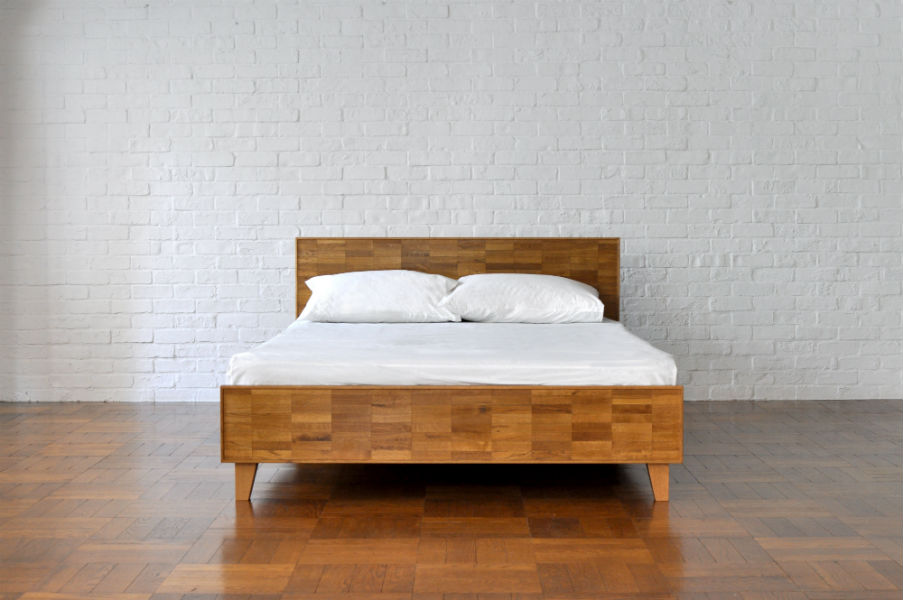 PARQUET BACK BED semi double
