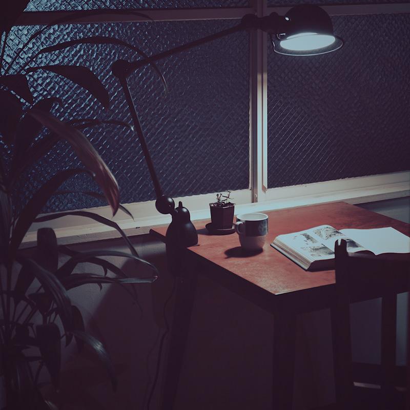 SQUARE TABLE S / Darkbrown