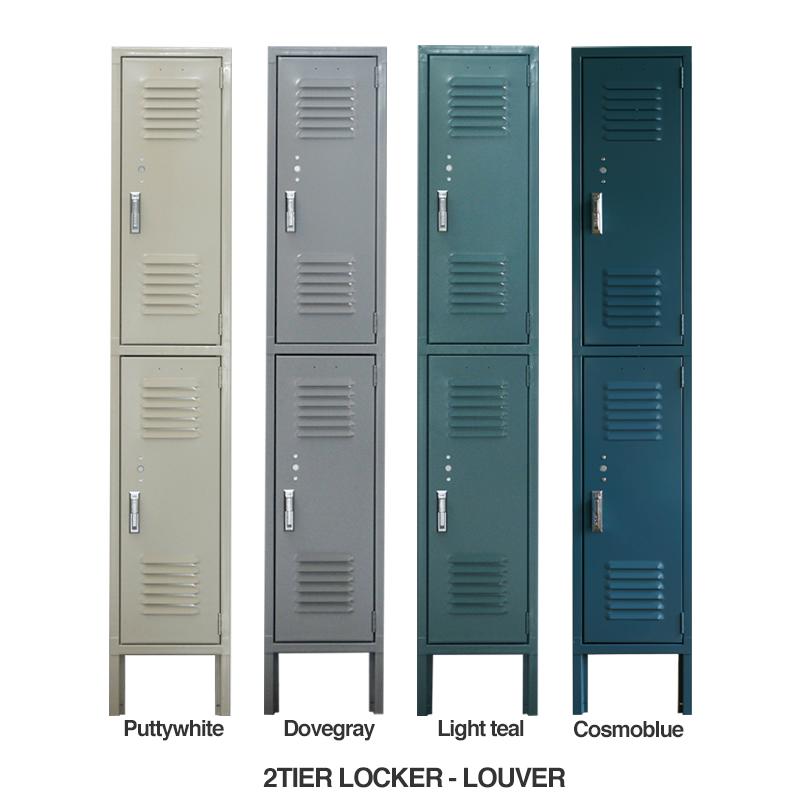 LYON 2-TIER LOCKER - LOUVER