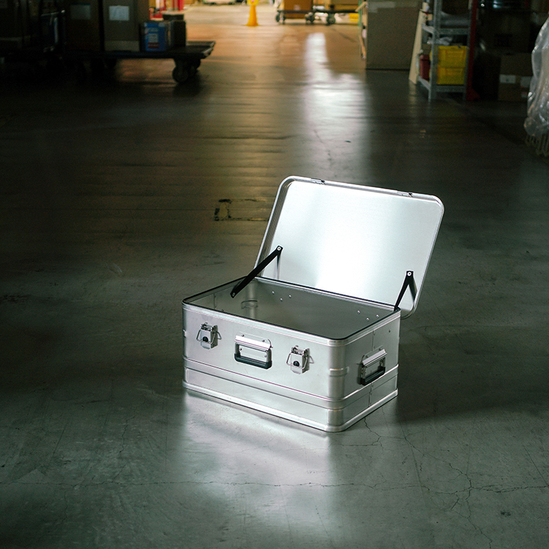 ALPOS ALUMI CONTAINER with Lid - S