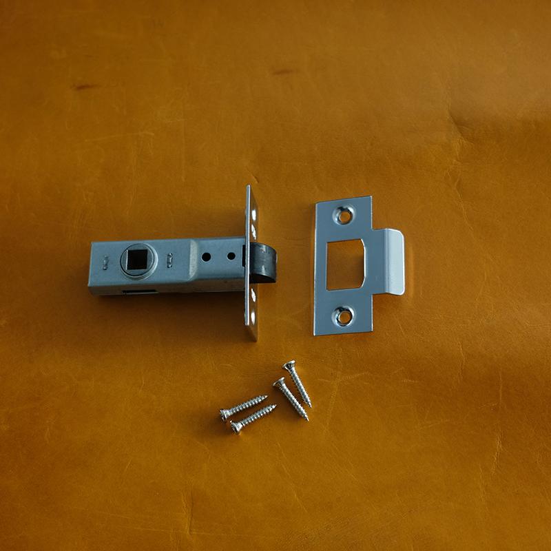 TUBLAR LATCH - Polished brass / Satin chrome finish