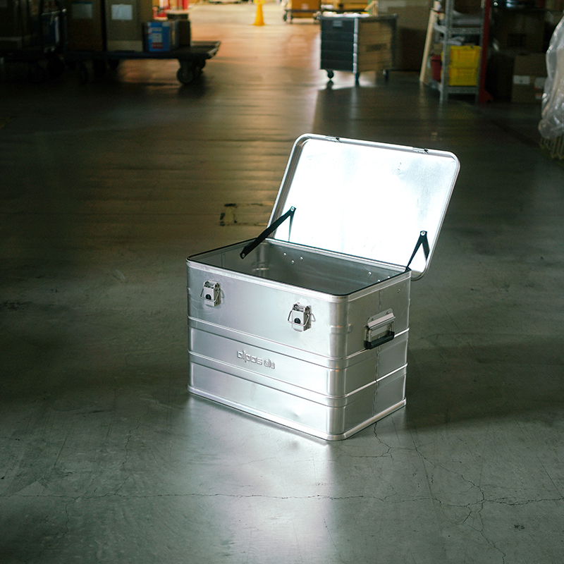 ALPOS ALUMI CONTAINER with Lid - M