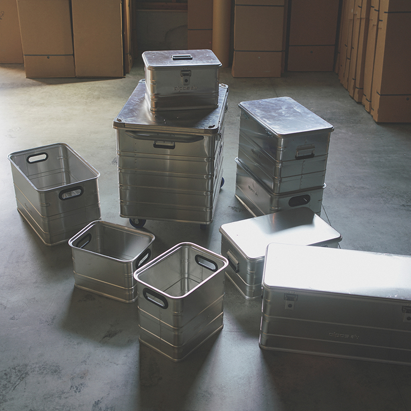 ALPOS ALUMI CONTAINER with Lid - L