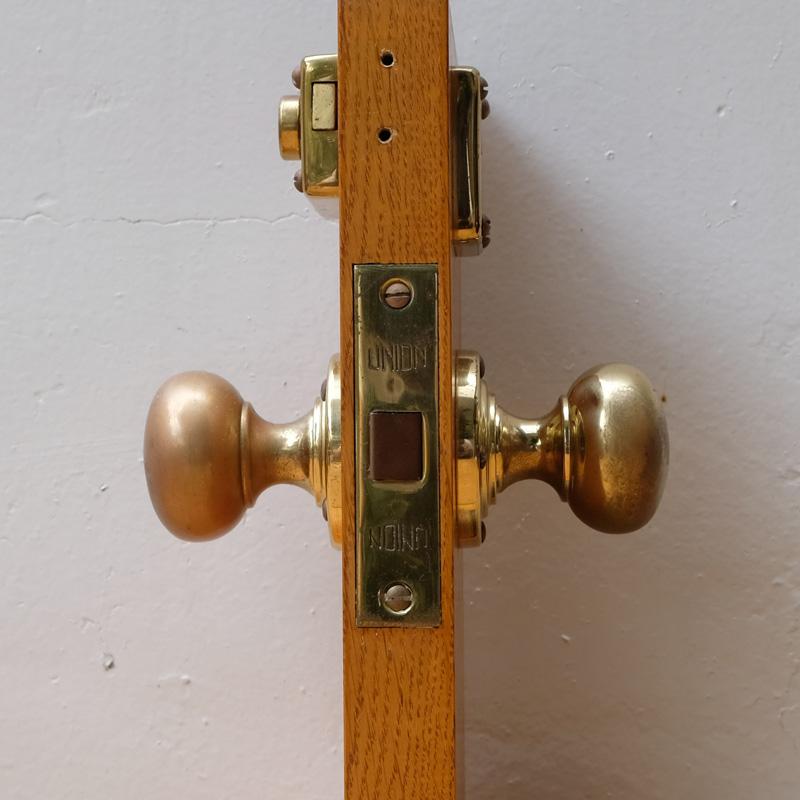 MORTICE LATCH - Polished brass / Satin chrome finish