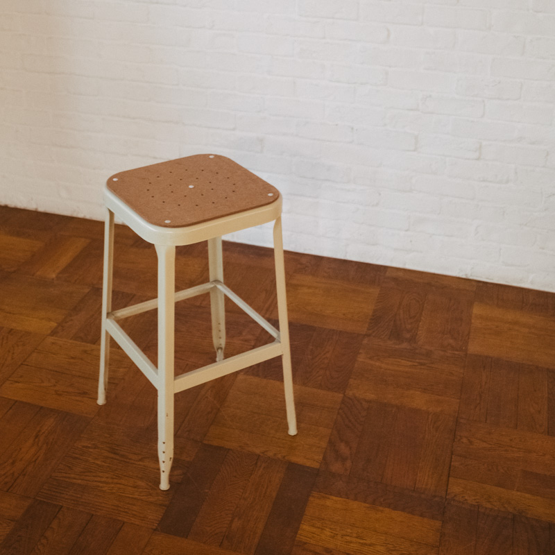 PRESS WOOD SEAT for LYON FACTORY STOOL