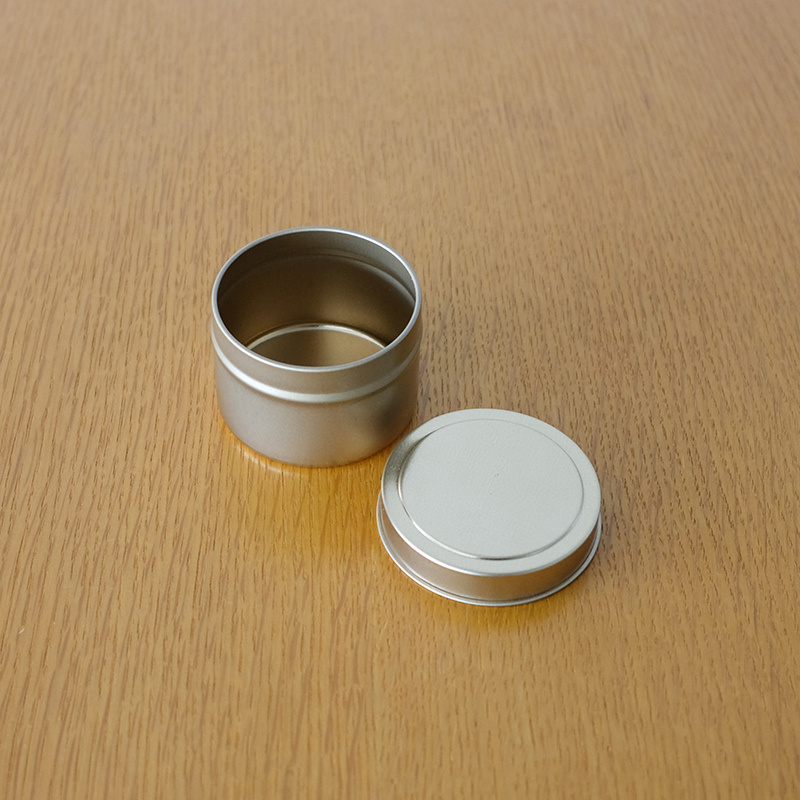 METAL CAN w/rolled Edge Cover Gold