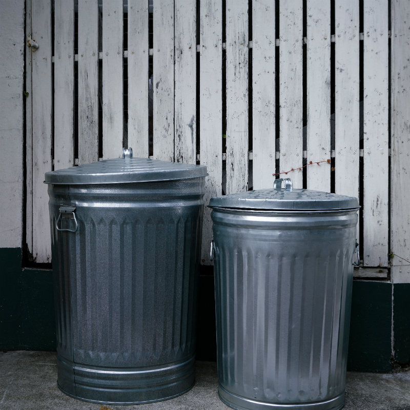 Galvanized Steel Trash Can 20gal/31gal