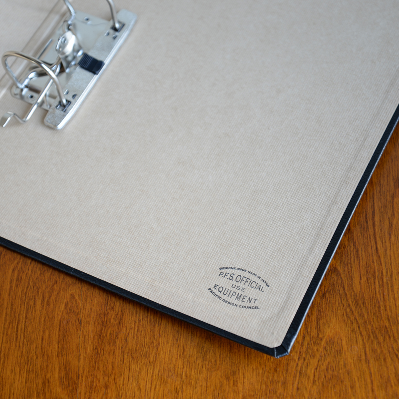 P.F.S. DOCUMENT BINDER
