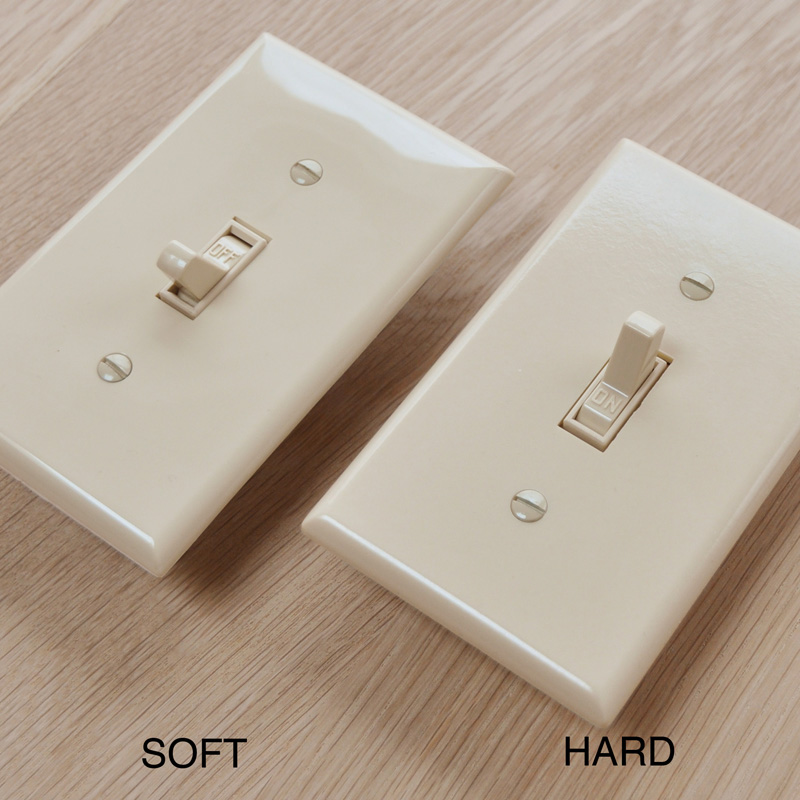 TOGGLE SWITCH PLATE - ALMOND