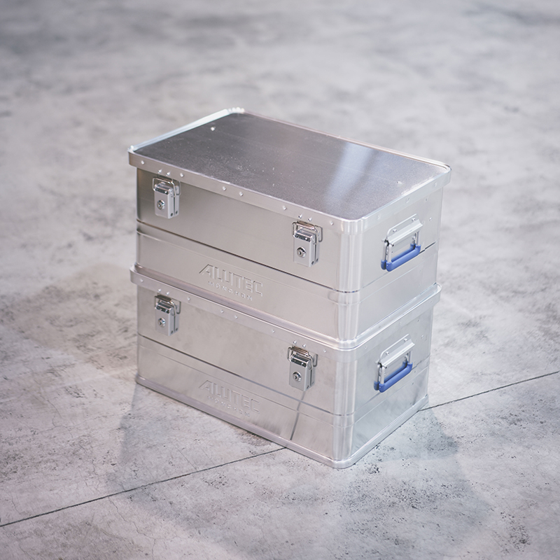 ALUTEC ALUMI CONTAINER with Lid CLASSIC TYPE- 48L