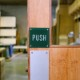 ENGRAVED SIGN PLATE / GREEN
