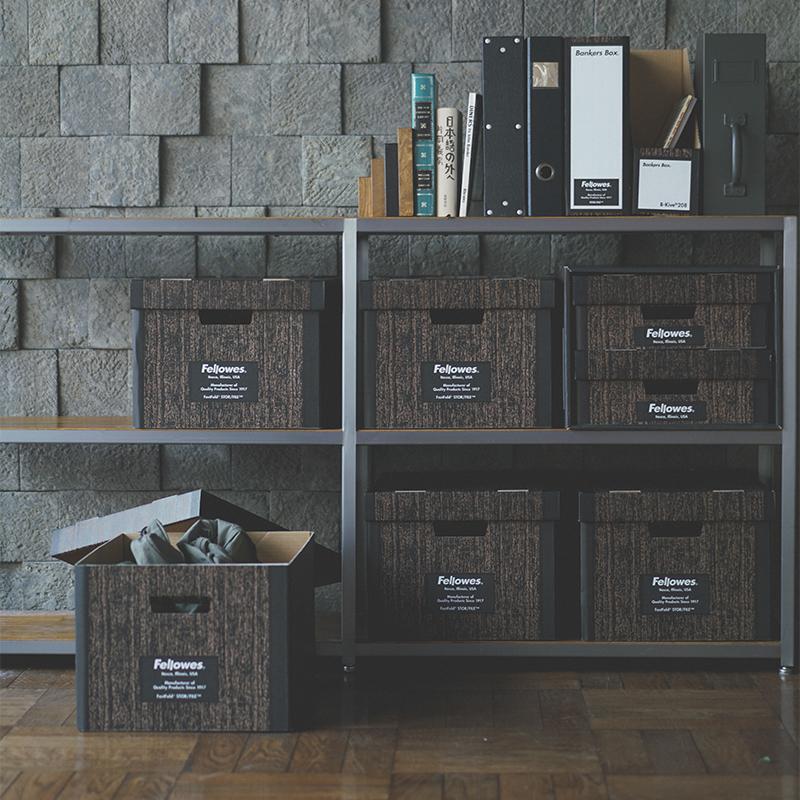 FELLOWS BANKERS BOX - Woodgrain 208 Magazine File (3個セット)