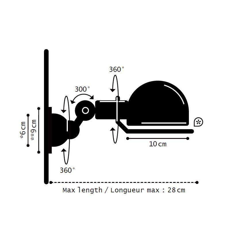 JIELDE SIGNAL 300 WALL LAMP