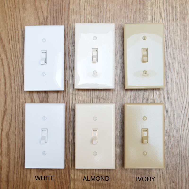 TOGGLE SWITCH PLATE - WHITE