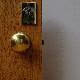 DOOR KNOB - Polished Brass (press) 50 DIA