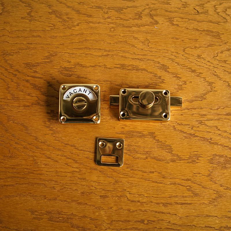 INDICATOR BOLT - Polished Brass (Solid)