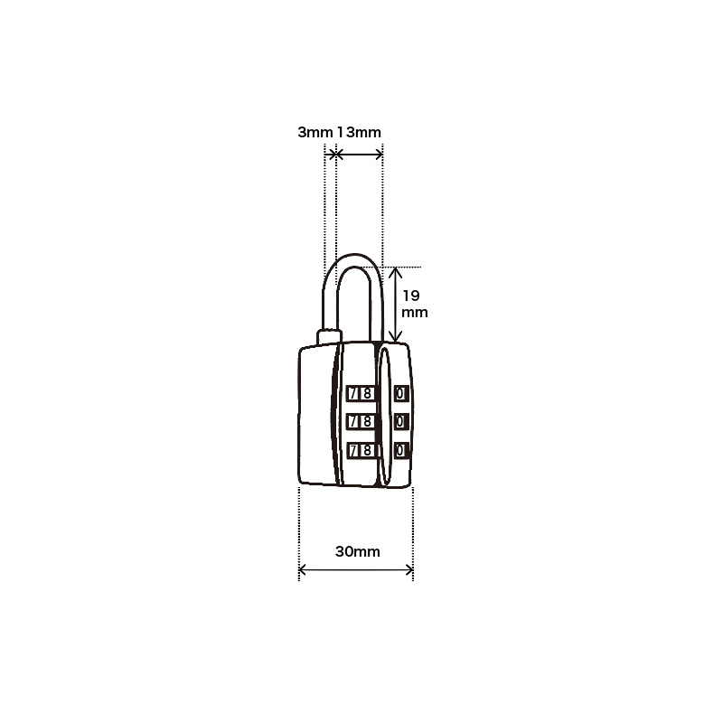 NUMBER COMBINATION TSA PADLOCK
