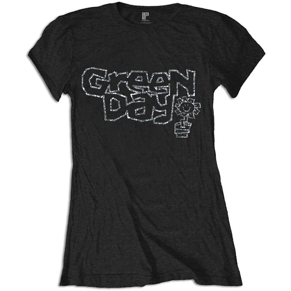 GREEN DAY グリーンデイ (初来日25周年 ) - Flower Pot with Rhinestone Application / Diamante(ブランド) / Tシャツ / レディース 【公式 / オフィシャル】