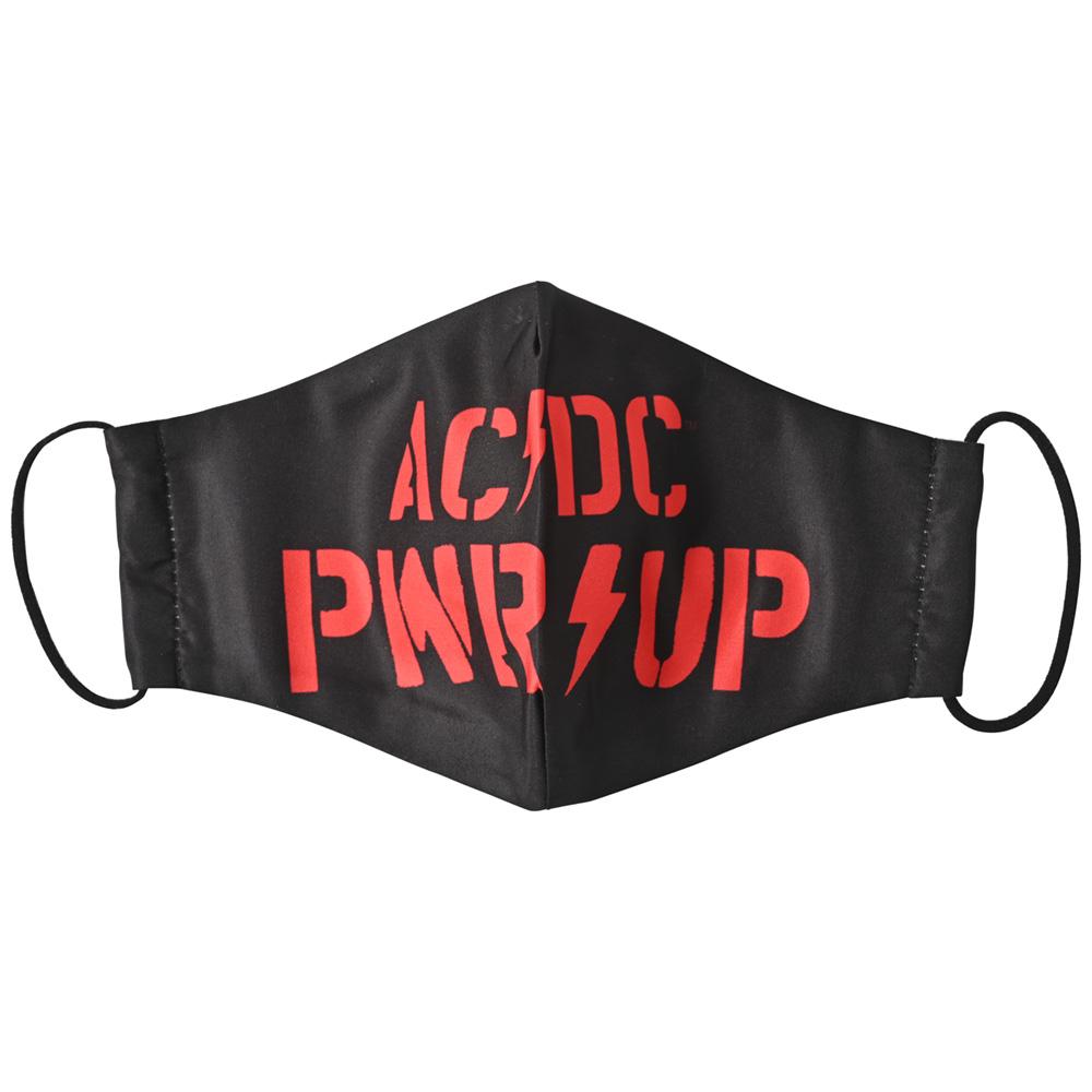 AC/DC エーシーディーシー (初来日40周年 ) - PWR-UP Logo / ファッション・マスク 【公式 / オフィシャル】