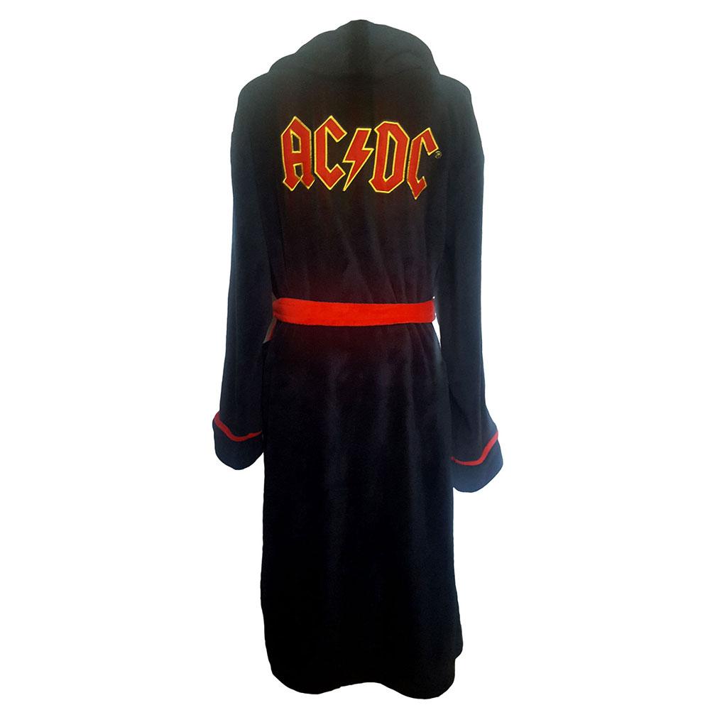 AC/DC エーシーディーシー (初来日40周年 ) - Logo / バスローブ / メンズ 【公式 / オフィシャル】