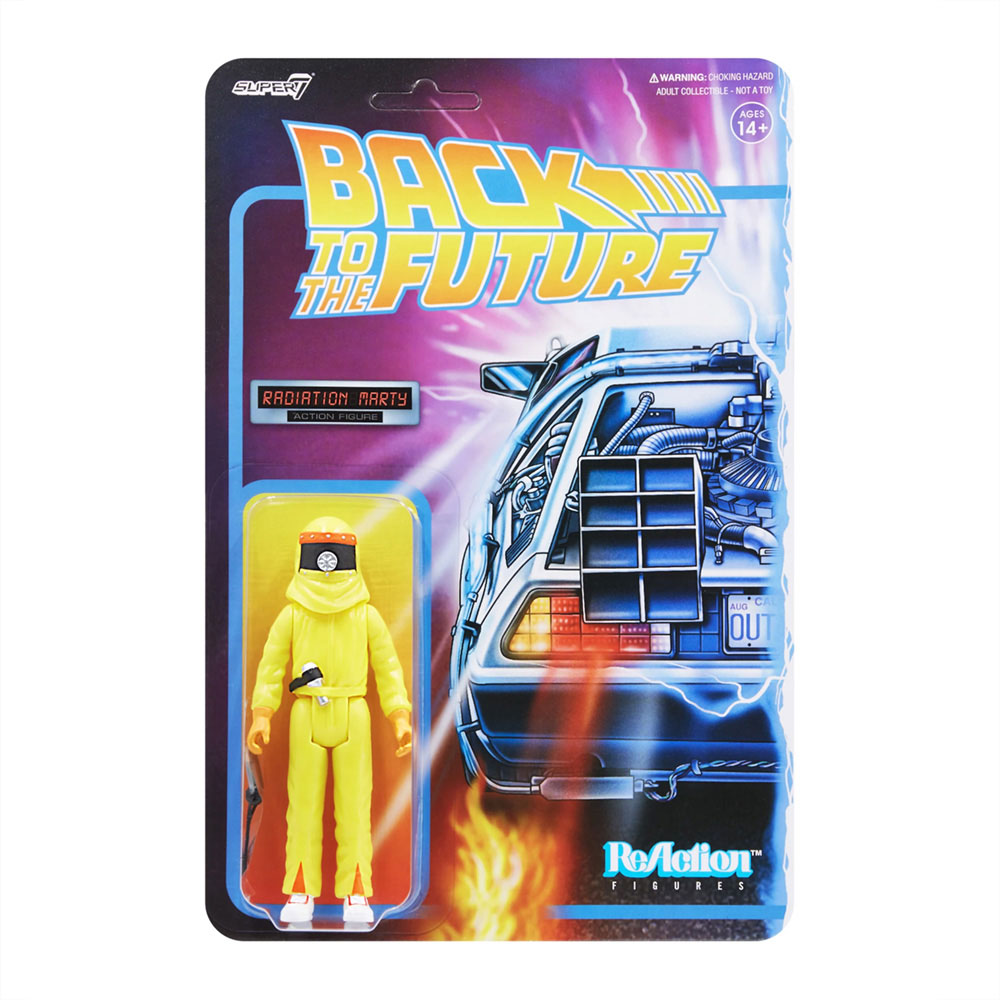 BACK TO THE FUTURE バックトゥザフューチャー (マイケルJフォックス生誕60周年 ) - 1 REACTION FIGURE W2 / MARTY AND THE RADIATION SUIT / フィギュア・人形 【公式 / オフィシャル】