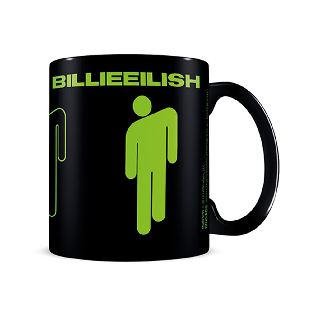 BILLIE EILISH ビリーアイリッシュ (デビュー5周年 ) - Stickman Black / マグカップ 【公式 / オフィシャル】