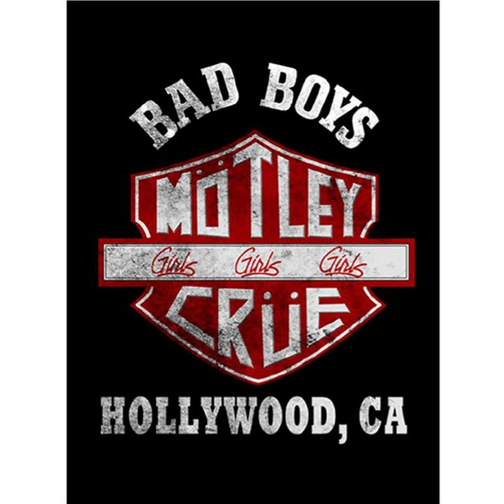 MOTLEY CRUE モトリークルー (結成40周年 ) - Bad Boys Shield / Tシャツ / メンズ 【公式 / オフィシャル】
