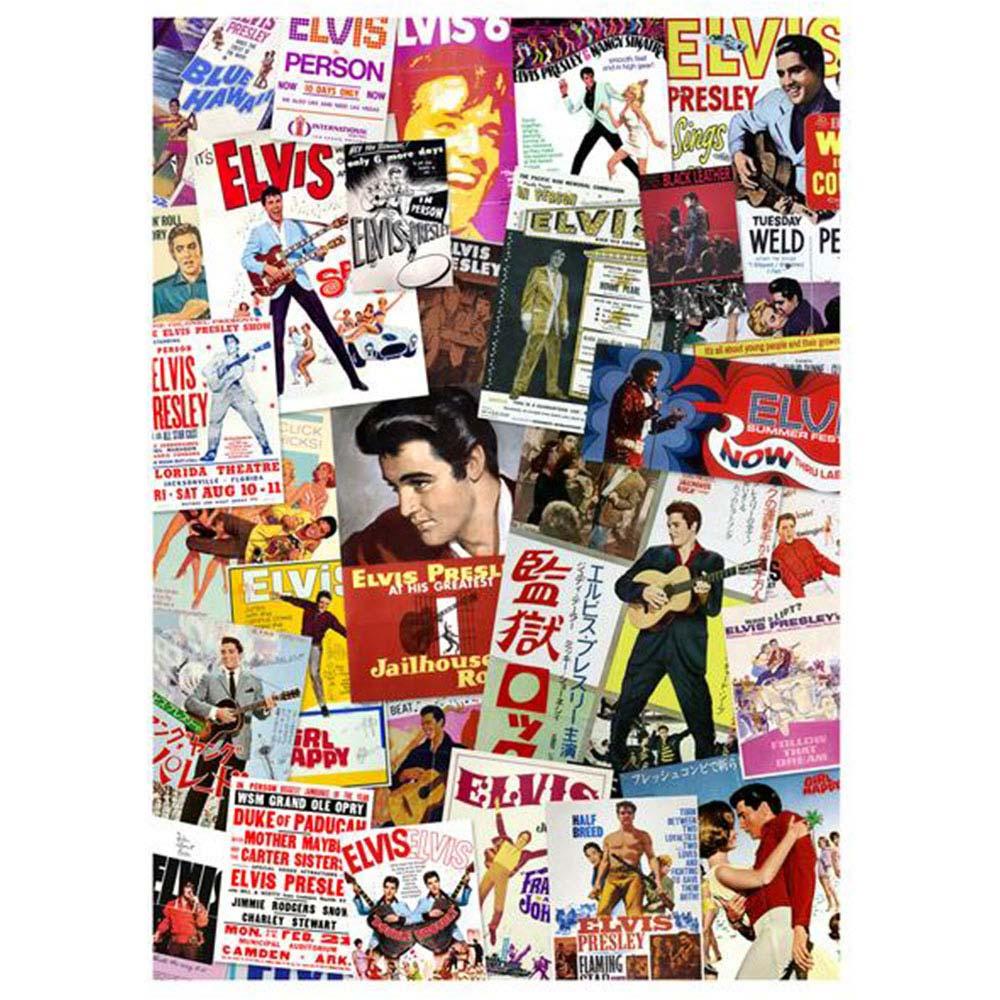 ELVIS PRESLEY エルヴィスプレスリー (RCAデビュー65周年記念 ) - Movie Poster Collage / 1000ピース / ジグソーパズル 【公式 / オフィシャル】
