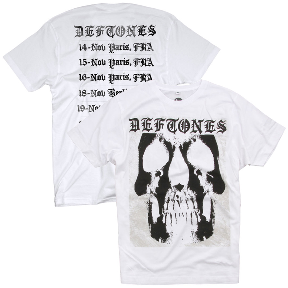 DEFTONES デフトーンズ - 2015 EUROPEAN TOUR / バックプリントあり / Tシャツ / メンズ 【公式 / オフィシャル】