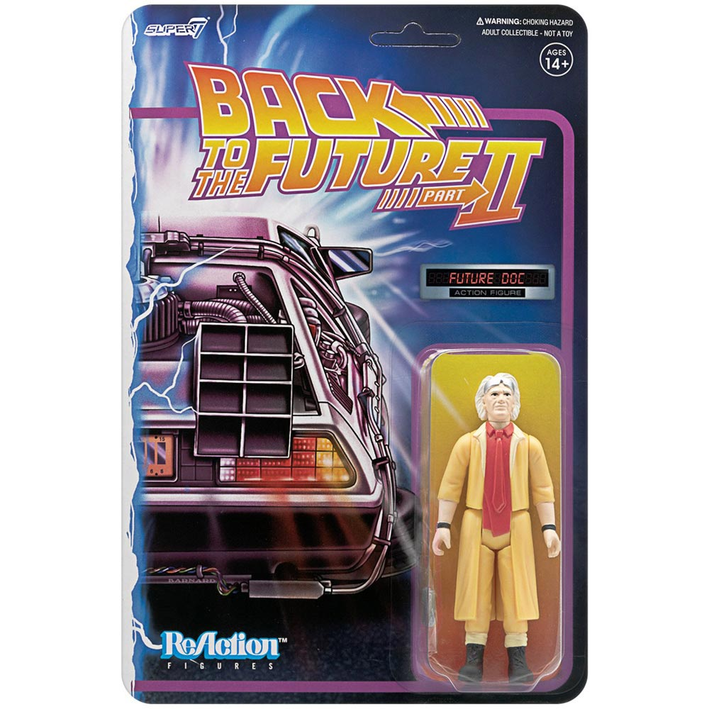 BACK TO THE FUTURE バックトゥザフューチャー (マイケルJフォックス生誕60周年 ) - 2 REACTION FIGURE W1 / DOC BROWN FUTURE / フィギュア・人形 【公式 / オフィシャル】