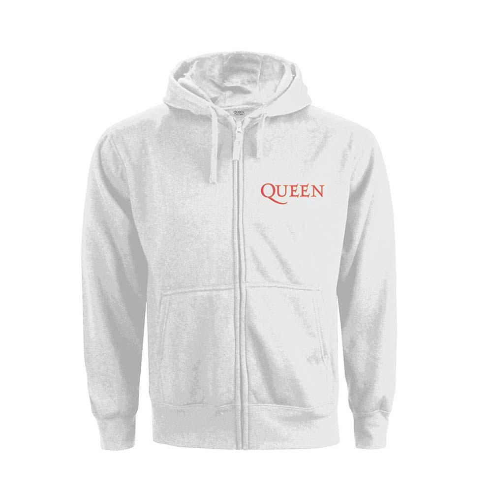 QUEEN クイーン (フレディ追悼30周年 ) - Classic Crest / バックプリントあり / ジップ / スウェット・パーカー / レディース 【公式 / オフィシャル】