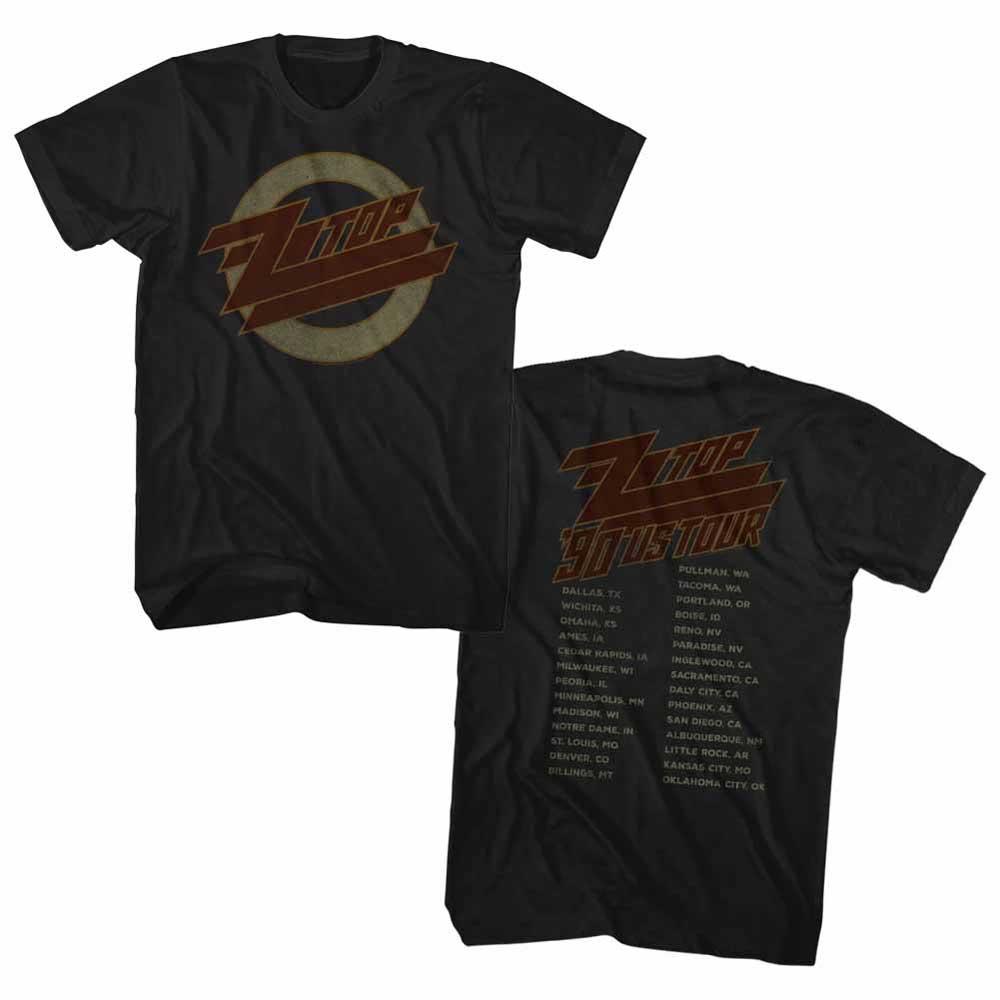 ZZ TOP ズィーズィートップ (デビュー50周年記念 ) - 1990 US TOUR / バックプリントあり / Tシャツ / メンズ 【公式 / オフィシャル】