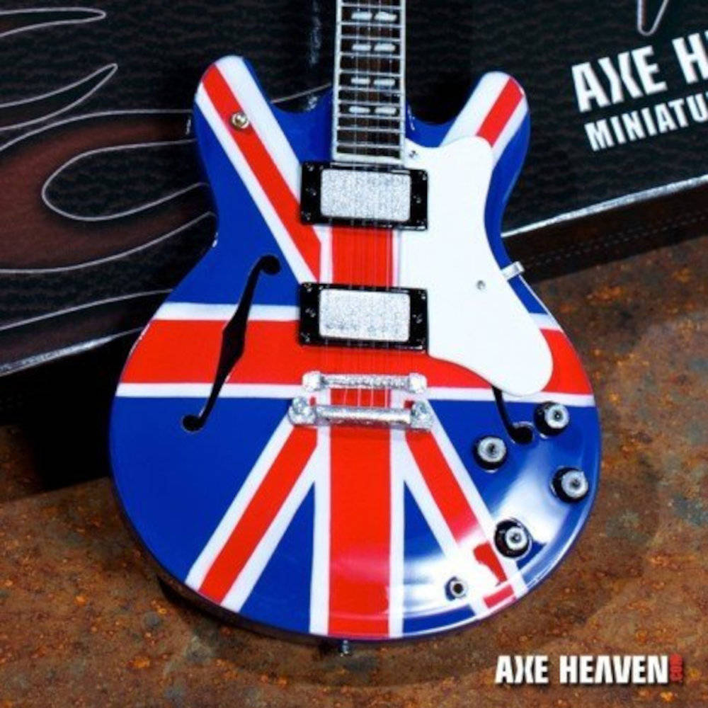 OASIS オアシス (映画『KNEBWORTH1996』公開決定 ) - Noel Gallagher Union Jack Supernovaミニチュア / ミニチュア楽器 【公式 / オフィシャル】