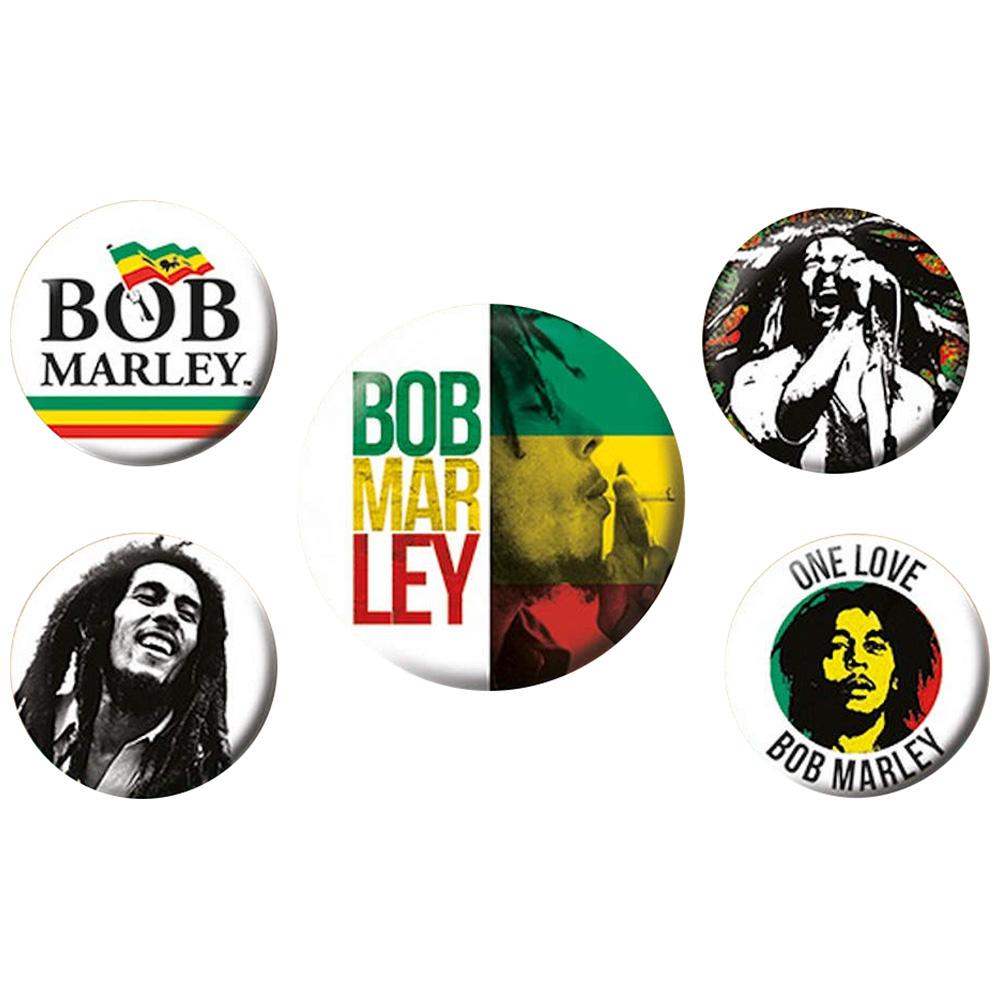 BOB MARLEY ボブマーリー (生誕75周年記念 ) - Bob Marley / バッジ 【公式 / オフィシャル】