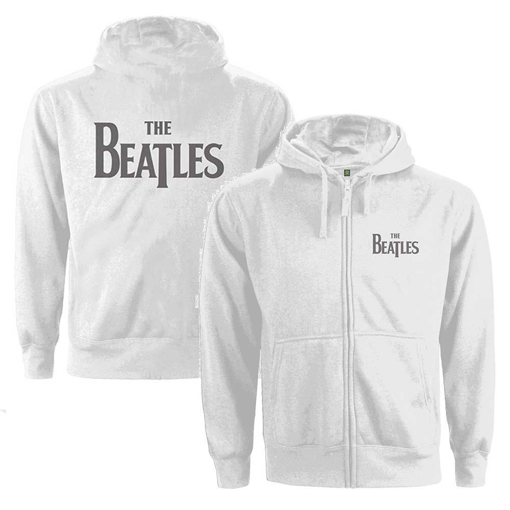 BEATLES ビートルズ (来日55周年記念 ) - Drop T Logo / バックプリントあり / ジップ / スウェット・パーカー / レディース 【公式 / オフィシャル】