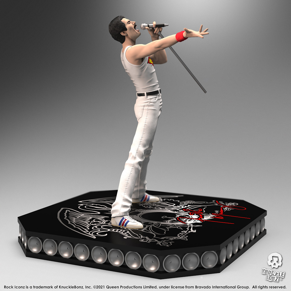 【予約商品】 【プレゼント付き】 QUEEN クイーン (結成50周年 ) - Freddie Mercury / 世界限定3000体 / スタチュー 【公式 / オフィシャル】