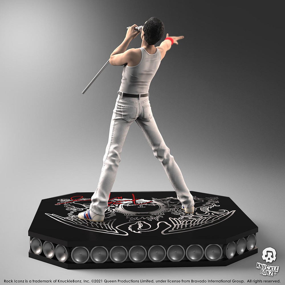 【予約商品】 【プレゼント付き】 QUEEN クイーン (結成50周年 ) - Freddie Mercury / 世界限定3000体 / フィギュア・人形 【公式 / オフィシャル】