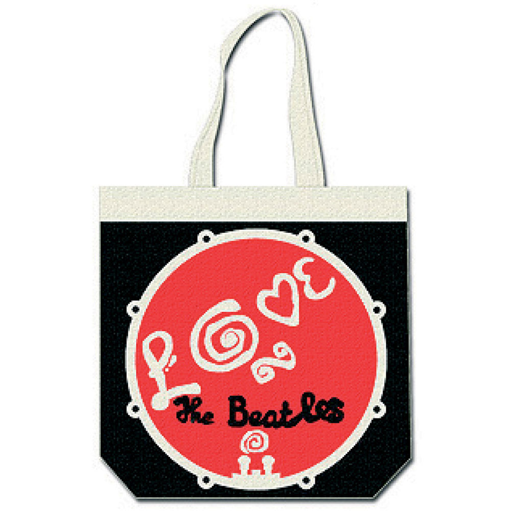 BEATLES ビートルズ (来日55周年記念 ) - LOVE DRUM / トートバッグ 【公式 / オフィシャル】