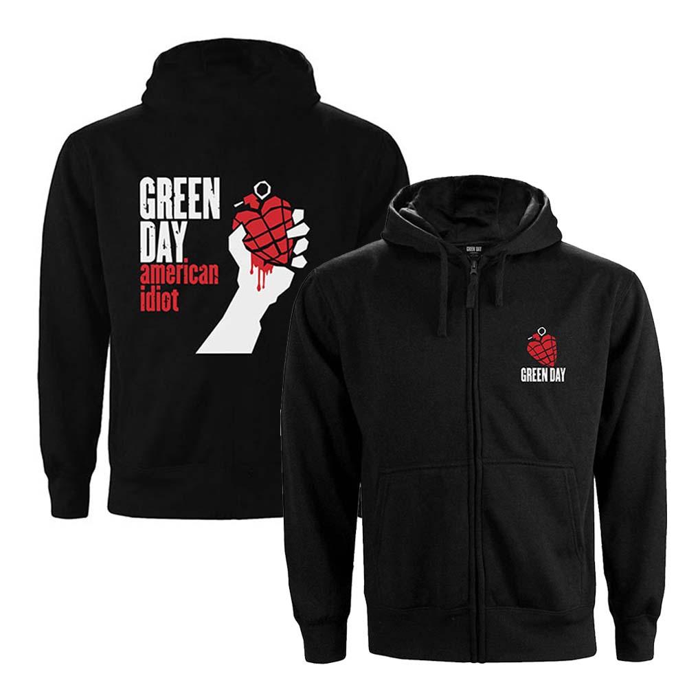 GREEN DAY グリーンデイ (初来日25周年 ) - American Idiot / バックプリントあり / ジップ / スウェット・パーカー / レディース 【公式 / オフィシャル】