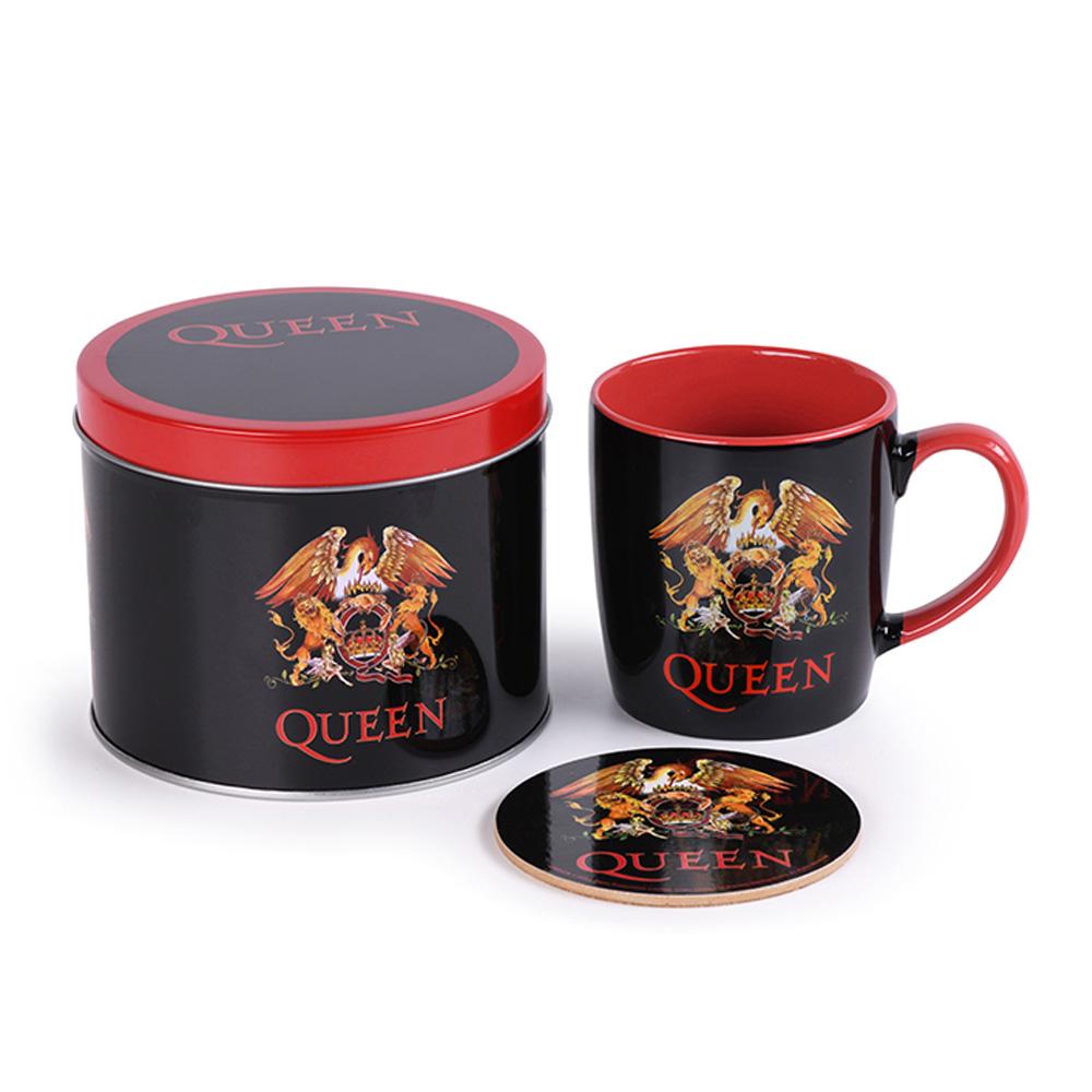 QUEEN クイーン (フレディ追悼30周年 ) - Logo/缶入りセット / マグカップ 【公式 / オフィシャル】