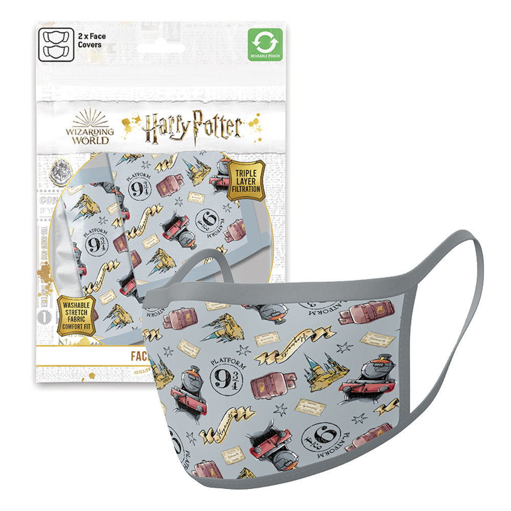 HARRY POTTER ハリーポッター - Hogwarts Express / フェイスカバー2枚セット / 生活雑貨 【公式 / オフィシャル】