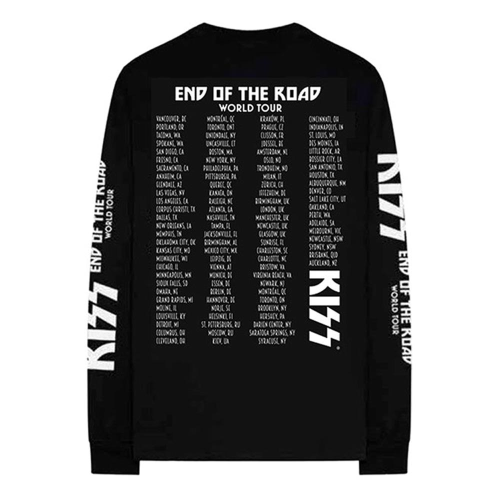 【予約商品】 KISS キッス (地獄への接吻45周年 ) - End Of The Road Tour / バック & アームプリントあり / 長袖 / Tシャツ / メンズ 【公式 / オフィシャル】