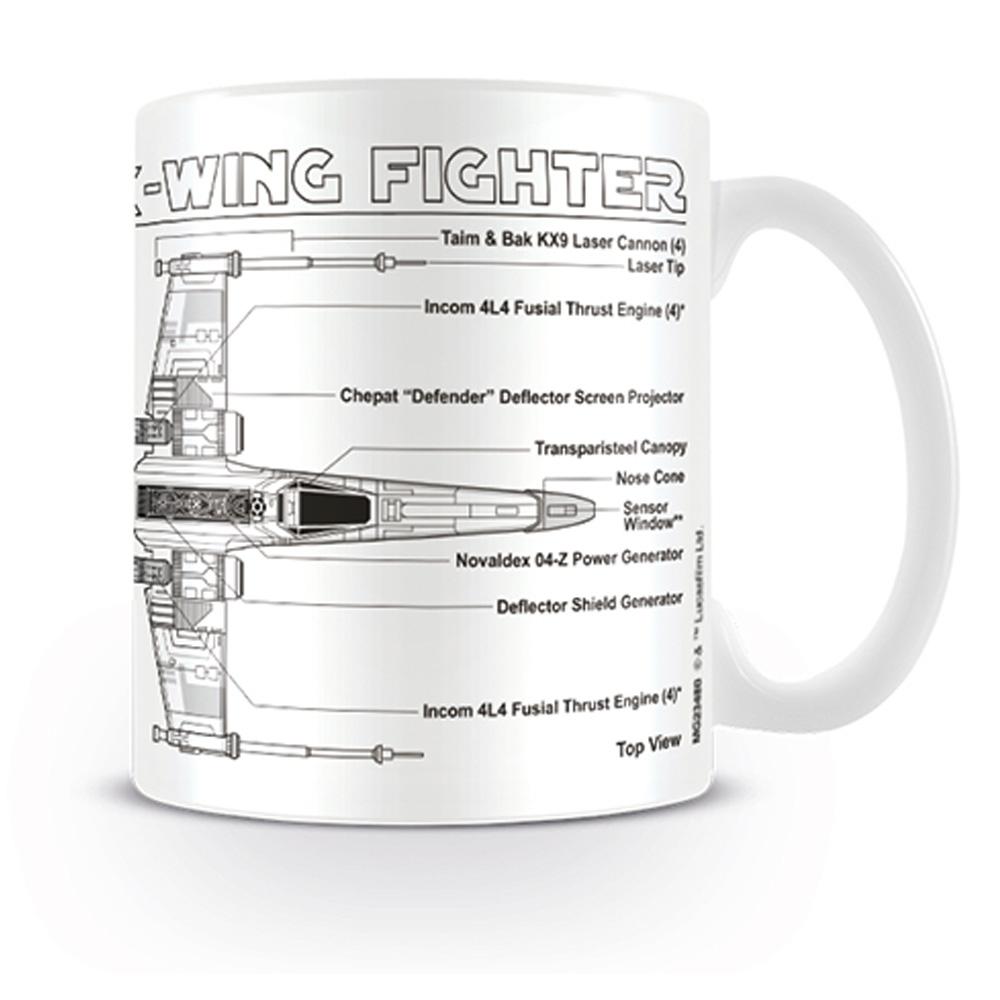 STAR WARS スターウォーズ - X-Wing Fighter Sketch / マグカップ 【公式 / オフィシャル】