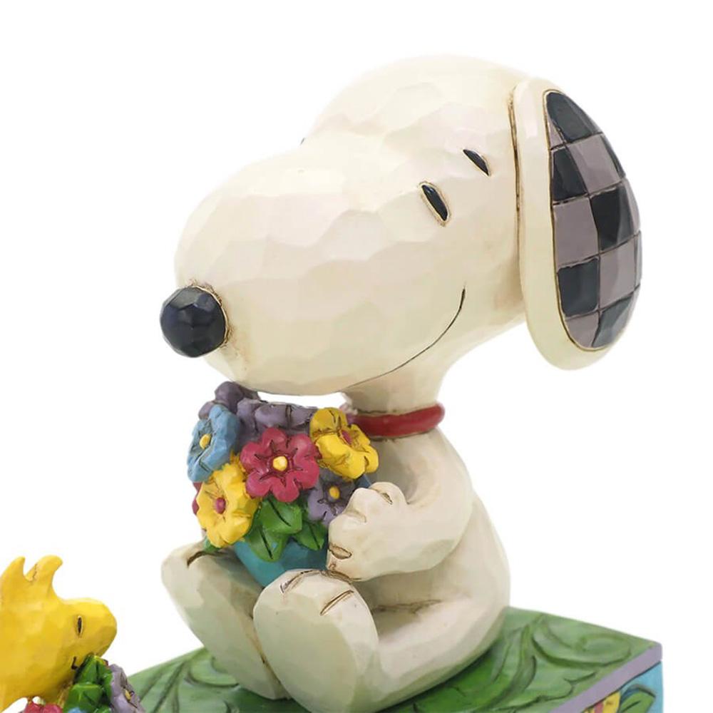 PEANUTS スヌーピー - スヌーピー&ウッドストック フラワーズ / JIM SHORE / フィギュア・人形 【公式 / オフィシャル】