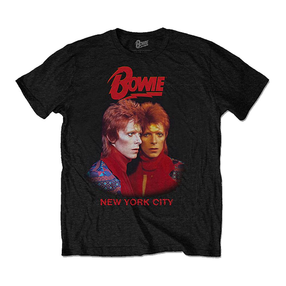 DAVID BOWIE デヴィッド・ボウイ (追悼5周年 ) - New York City / バックプリントあり / Tシャツ / メンズ 【公式 / オフィシャル】