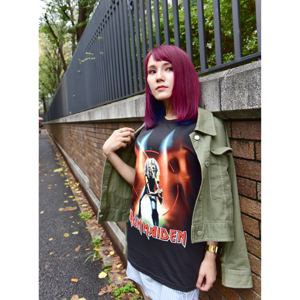 IRON MAIDEN アイアンメイデン - MAIDEN JAPAN / 限定復刻 / バックプリントあり / Tシャツ / メンズ 【公式 / オフィシャル】