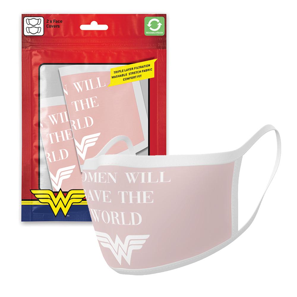 WONDER WOMAN ワンダーウーマン - Save The World / フェイスカバー2枚セット / 生活雑貨 【公式 / オフィシャル】