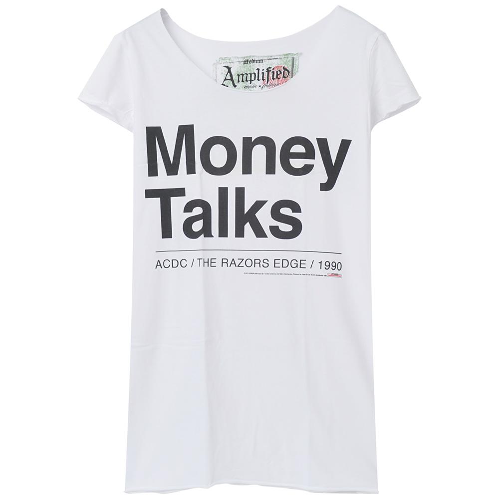 AC/DC エーシーディーシー (新譜パワーアップ発売記念 ) - MONEY TALKS / Amplified( ブランド ) / Tシャツ / レディース 【公式 / オフィシャル】